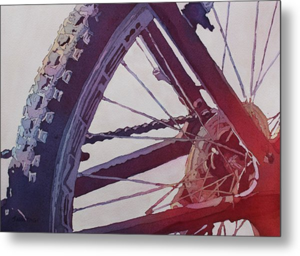 Heart Of The Bike Metal Print