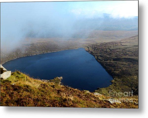 Heart Shape Lake Lough Ouler Wicklow In Ireland Metal Print