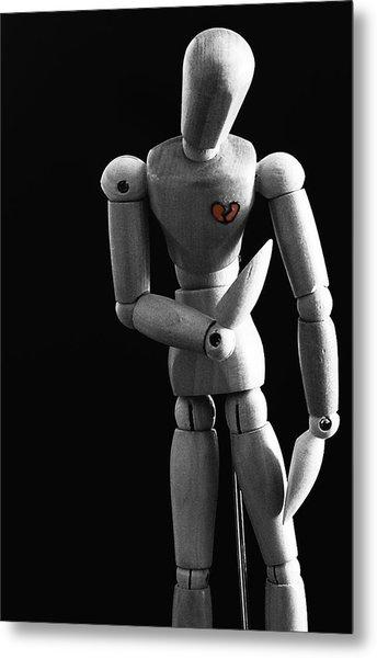 Heartbroken Mannequin Metal Print