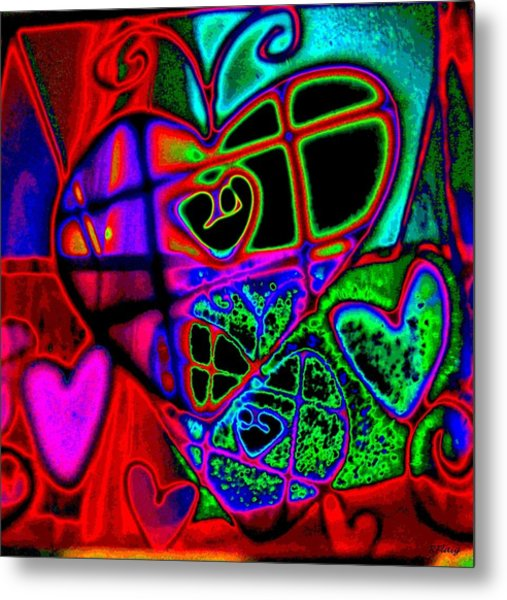 Hearts Desire Metal Print by Rebecca Flaig
