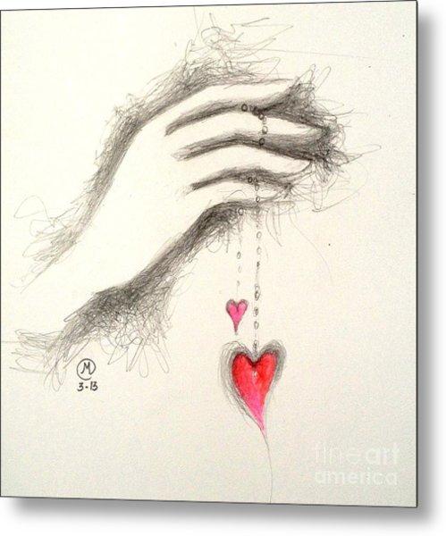 Hearts In Hand Metal Print