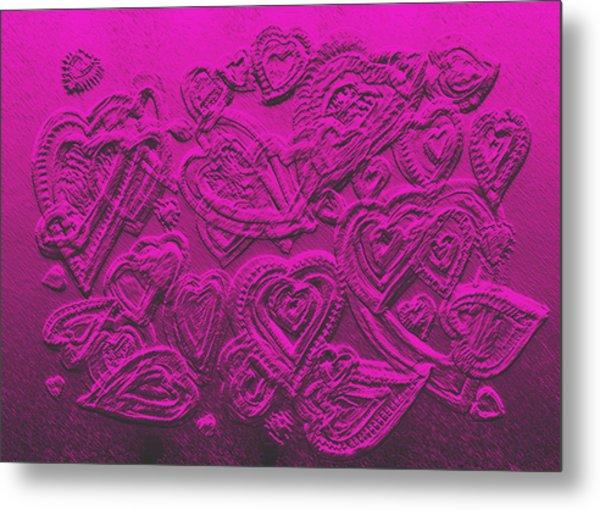 Hearts Of Love Metal Print