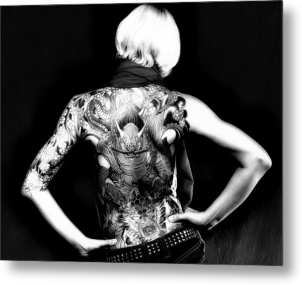 Heather The Tatooed Lady Metal Print