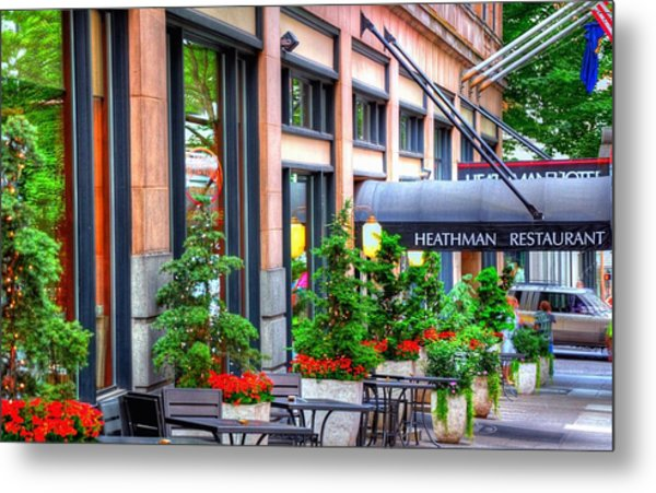 Heathman Restaurant 17368 Metal Print
