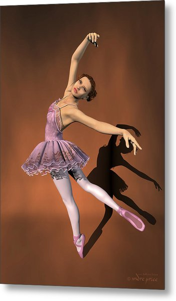 Heaven - Ballerina Portrait Metal Print by Alfred Price