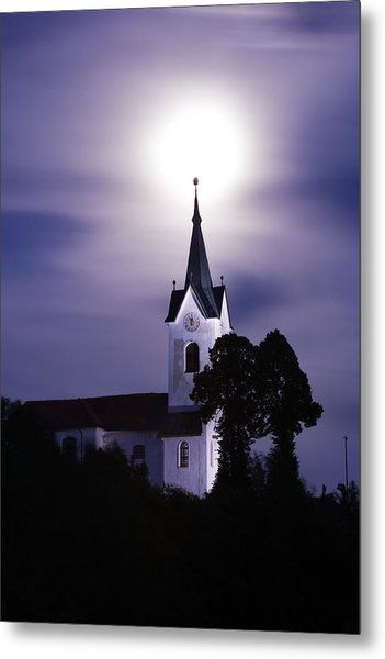 Heavenly Glow Metal Print