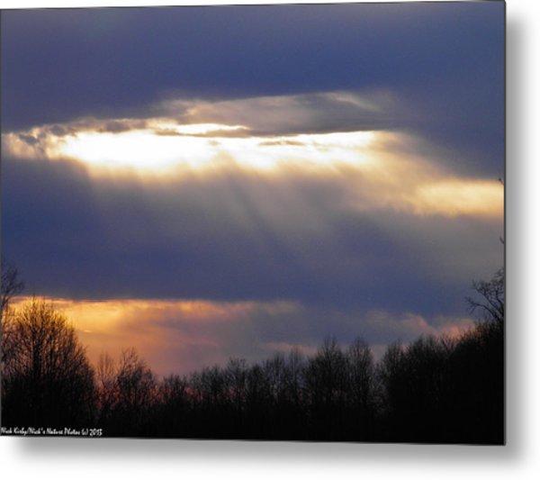 Heavenly Sunset Metal Print