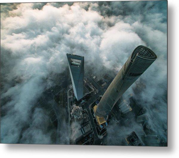 Heavenly View Of Shanghai Metal Print