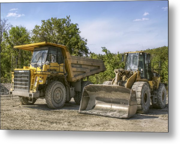 Heavy Equipment - Komatsu - Cat Metal Print