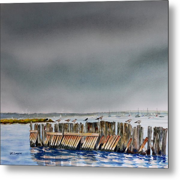 Heavy Sky In Keyport Metal Print