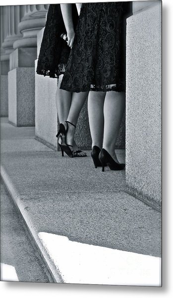 Heels And Lace Metal Print