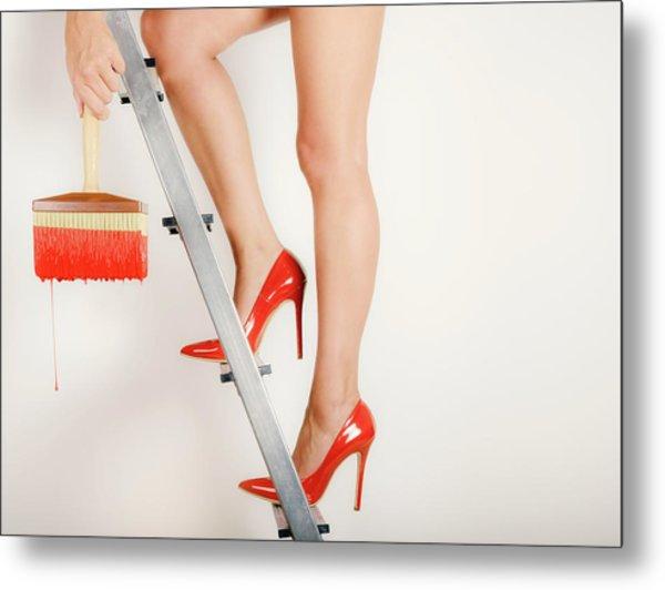 Heels On A Hot Tin Stair Metal Print