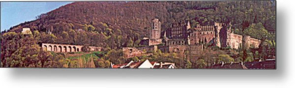 Heidelberg Castle And Arches Metal Print by Kimo Fernandez