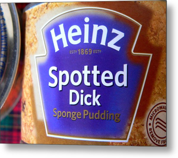 Heinz Spotted Dick Pudding Metal Print