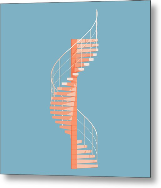 Helical Stairs Metal Print