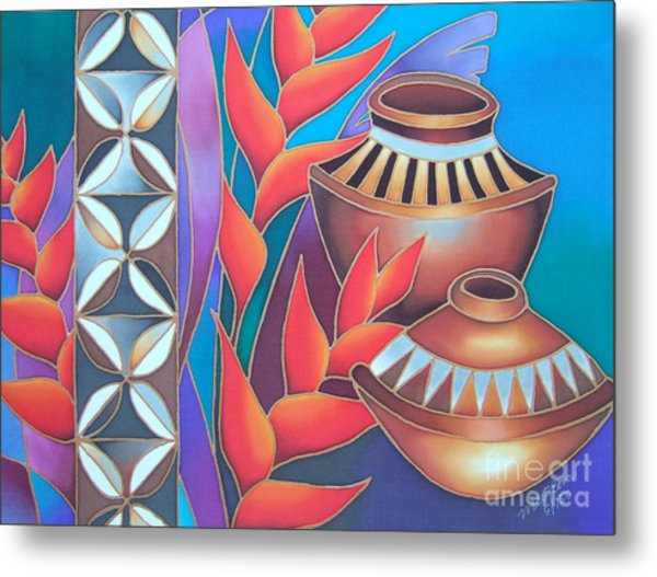 Heliconia With Pots Metal Print