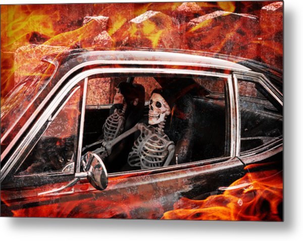 Hell Drive Metal Print