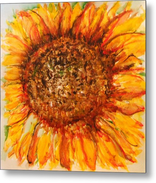 Hello Sunflower Metal Print