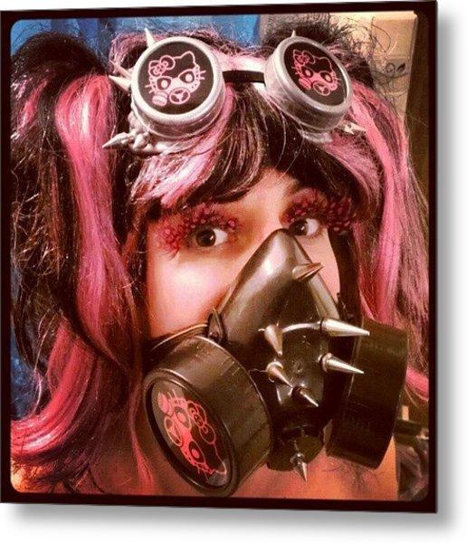 #hellokitty #gasmask #goggles #mask Metal Print