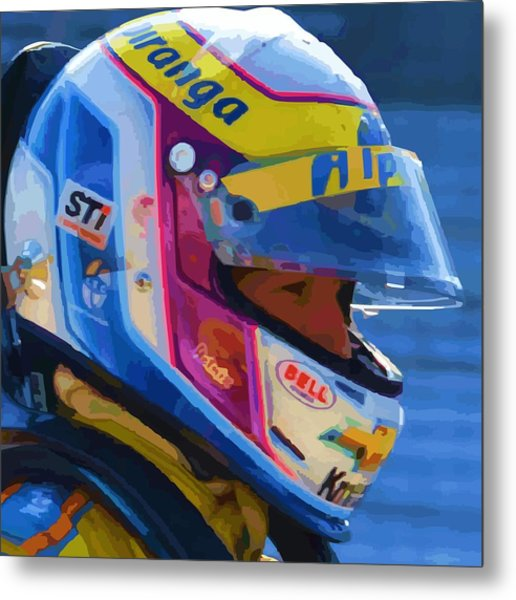 Helmet Of A Female Hero Metal Print
