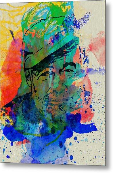 Hemingway Watercolor Metal Print