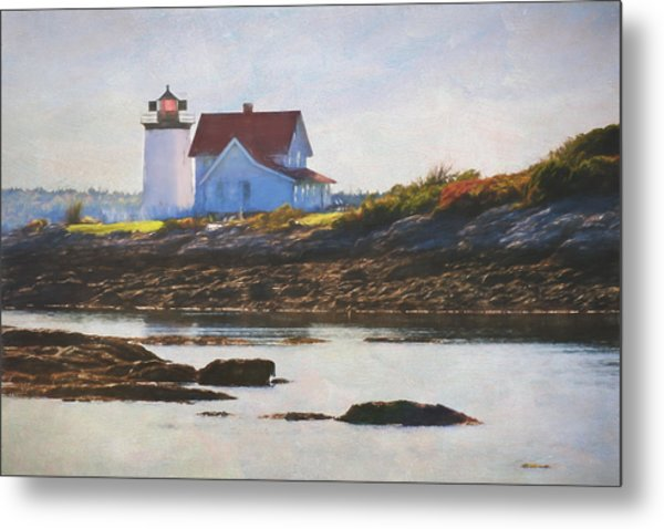 Hendricks Head Lighthouse - Maine Metal Print