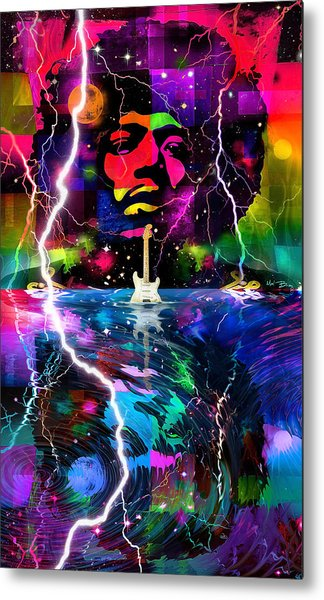 Hendrix Astro Man Metal Print