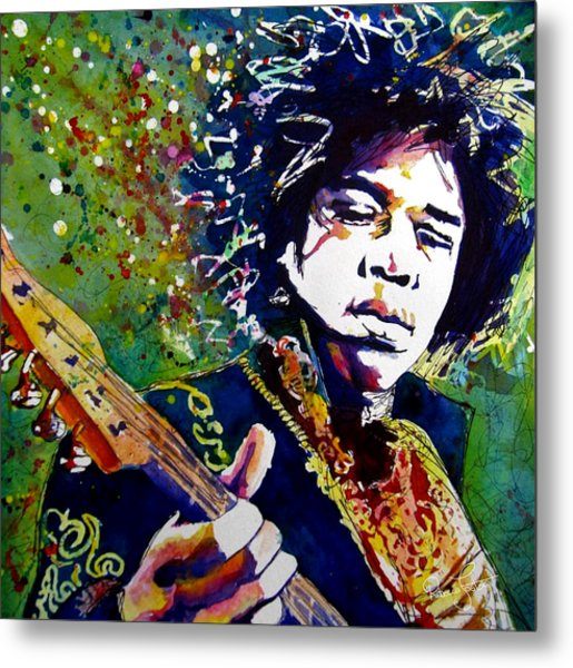 Hendrix Metal Print by Rebecca Foster