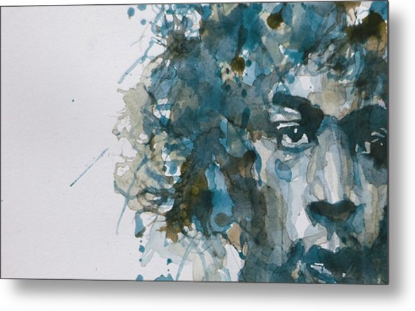 Hendrix Watercolor Abstract Metal Print
