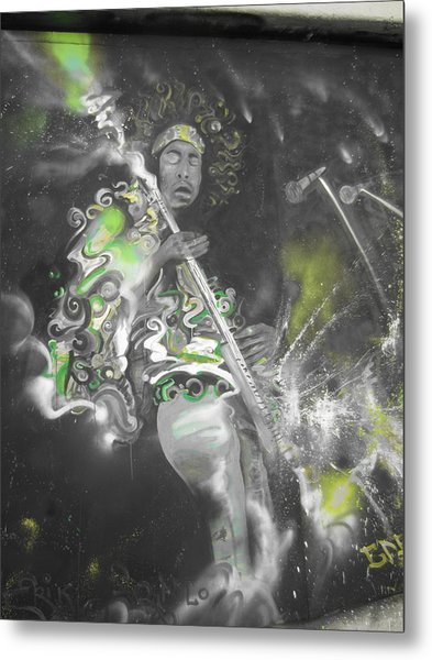 Hendrix X-ray #1 Metal Print by Erik Franco