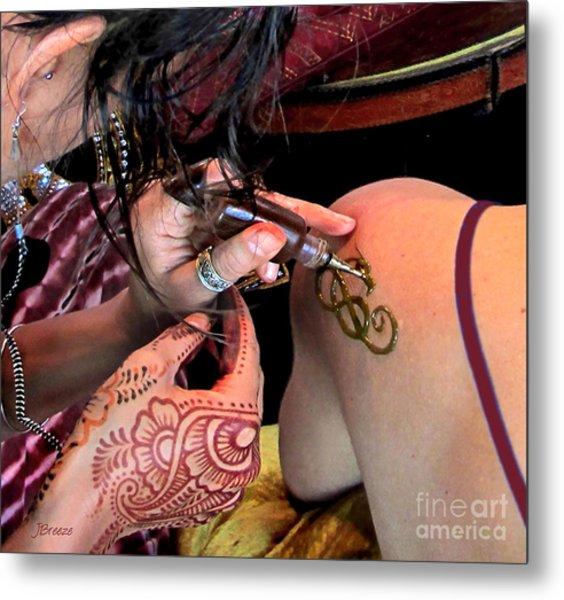 Henna Ocf Metal Print