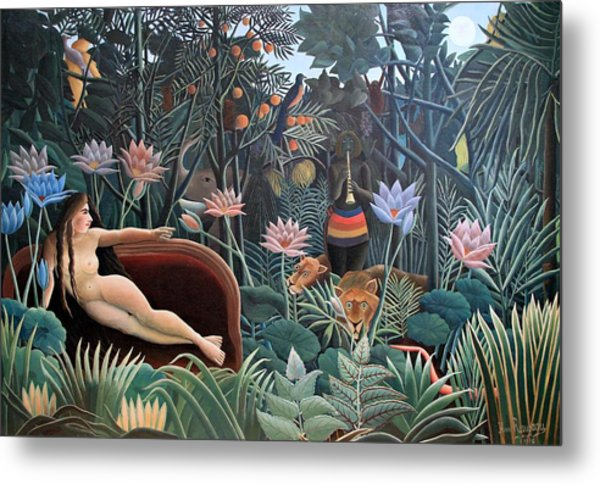 Henri Rousseau The Dream 1910 Metal Print