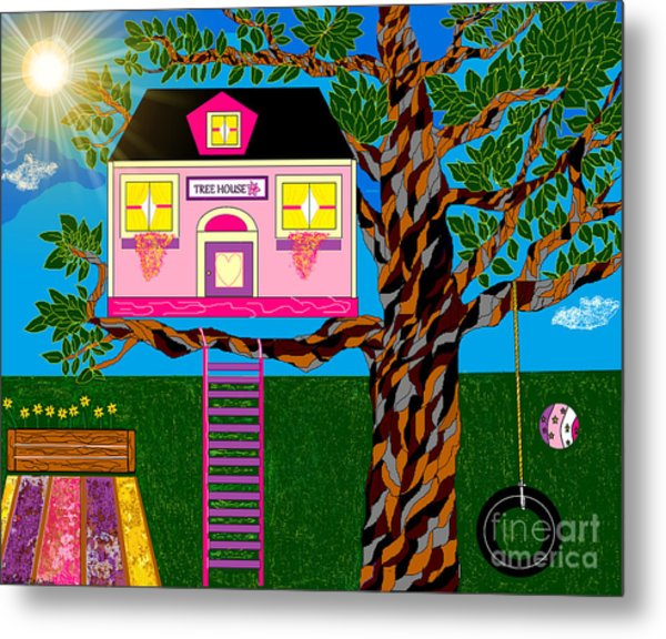 Her Tree House Metal Print