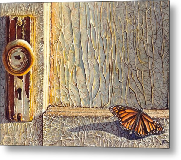 Her Wings Were Kissed By The Sun Metal Print