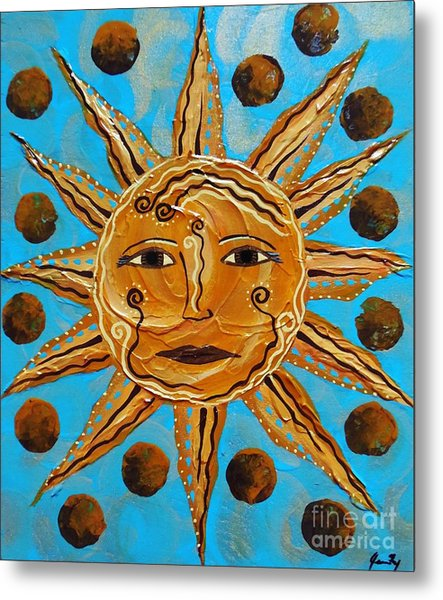 Here Comes The Sun Metal Print