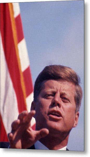 John F. Kennedy By Arthur Rickerby Metal Print