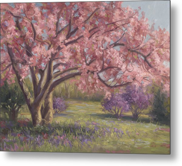 Here's The Spring Metal Print