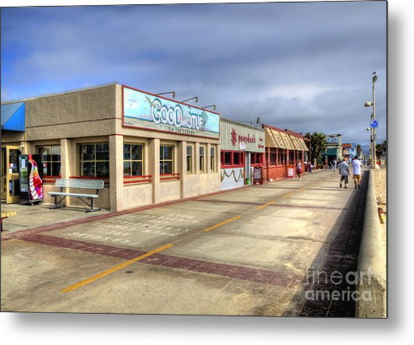 Hermosa Beach Boardwalk Metal Print