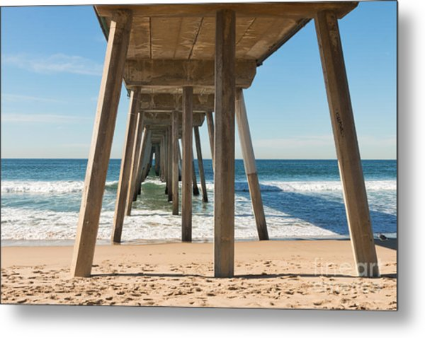Hermosa Beach Pier Metal Print