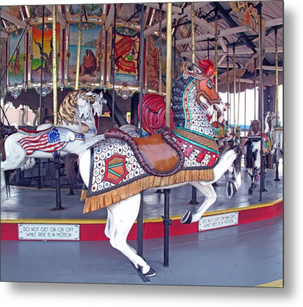 Herschell Spillman Armored Horse Metal Print