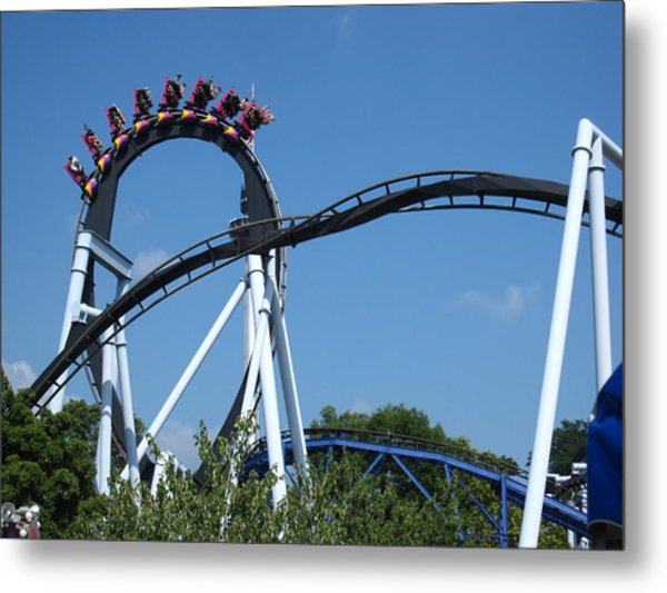 Hershey Park - Great Bear Roller Coaster - 121213 Metal Print by DC Photographer