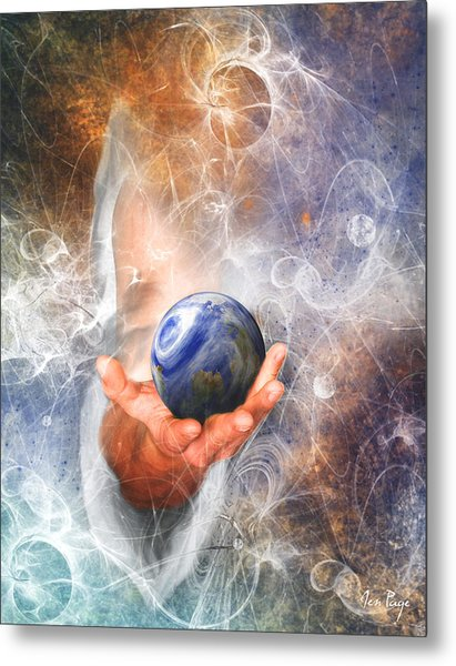 He's Got The Whole World In His Hand Metal Print