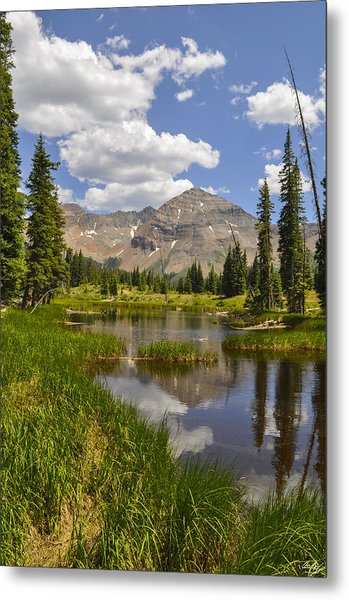 Hesperus Mountain Reflection Metal Print