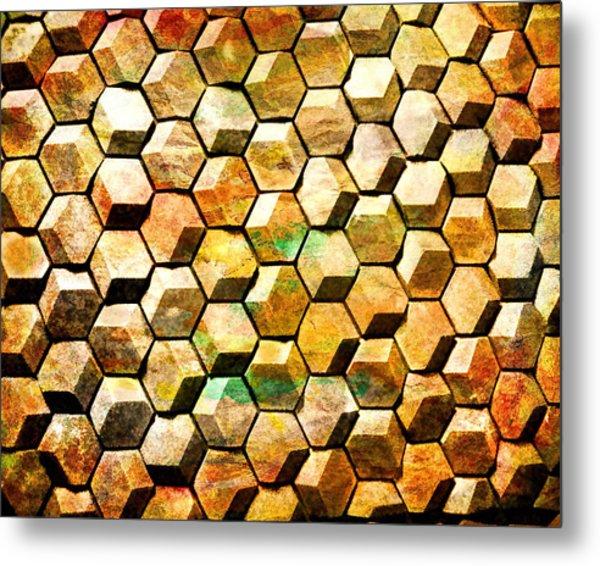 Hexacubes Metal Print