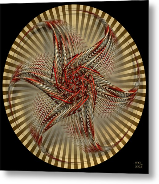 Hexagramma Metal Print