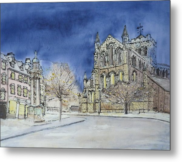 Hexham Abbey England Metal Print