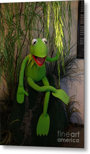 Hi Ho  Kermit The Frog Here  Metal Print