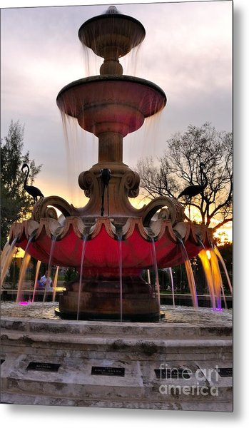 Hialeah Fountain Metal Print by Andres LaBrada