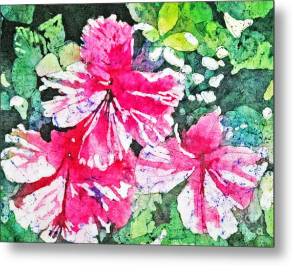 Hibiscus In The Sun Metal Print