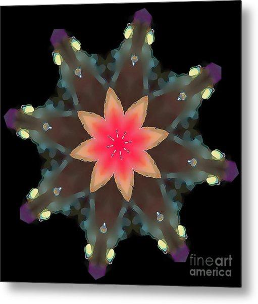 Hibiscus Mandala Metal Print